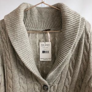 Free People Sweaters - Free People 'Ivory Heat' Cable Knit Cardigan